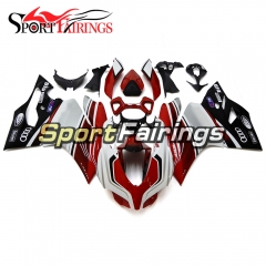 Fairing Kit Fit For Ducati 899/1199 2012 - 2013 - Red Silver