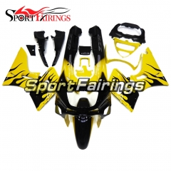 Fairing Kit Fit For Kawasaki ZZR400  1993 - 2007-Yellow with Black Flame
