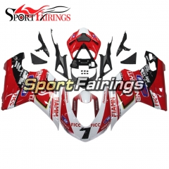 Fairing Kit Fit For Ducati 1098/1198/848 2007 - 2012 - Red White