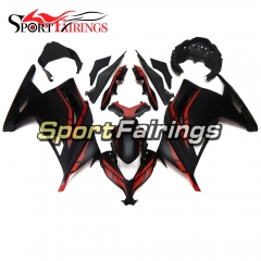 Fairing Kit Fit For Kawasaki EX300R / Ninja 300 2013 - 2015  -Flat Red Black