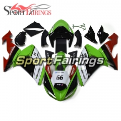 Fairing Kit Fit For Kawasaki ZX10R 2006 - 2007 - Green White
