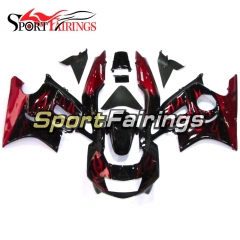 Fairing Kit Fit For Honda CBR600 F3 1997 - 1998 - Red Black Flames
