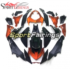 Fairing Kit Fit For Kawasaki Z800 2013 - 2016 - Black Orange