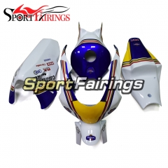 Fiberglass Racing Fairing Kit Fit For Honda CBR1000RR 2006 - 2007 -  White Blue Yellow