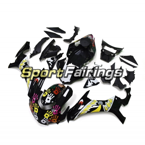 Fairing Kit Fit For Yamaha YZF R1 2015 2016 - Shark Design Black