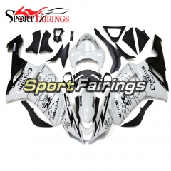 Fairing Kit Fit For Kawasaki ZX6R 2007 - 2008 - Pearl White Black