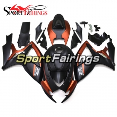Fairing Kit Fit For Suzuki GSXR600 750 2006 - 2007 - Matte Orange Black