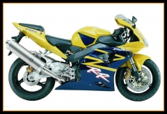 ABS Plastic Fairings Kit For Honda 2002 2003 CBR954RR Yellow Blue