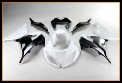 Injection Fairings For Kawasaki 2013 - 2017 ZX6R Matte White Black