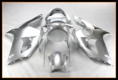 Complete Fairings For Kawasaki 2003 2004 ZX6R Pearl Silver