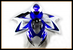 Complete ABS Fairing Kit For Suzuki GSXR600-750 K6 2006 - 2007 Injection Gloss Blue White Cowling Bodywork