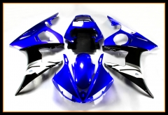 Full Cowlings For Yamaha 2003 - 2004 YZF-600 R6 Blue Black