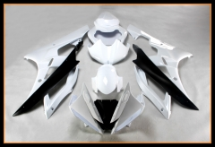 Full Fairings For Yamaha 2006 - 2007 YZF-600 R6 Black White