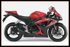Full  Injection ABS Fairing Kit For Suzuki GSXR600-750 K6 2006 - 2007 Gloss Red Black Cowling