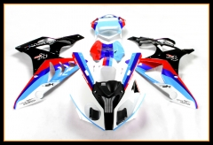 ABS Injection Full Cowlings For BMW 2009 - 2014 S1000RR Red White Blue