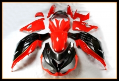 Injection Body Kit For Kawasaki ZZR1400 ZX14R 2012 - 2016 Gloss Red Black