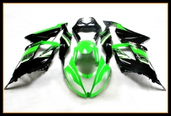ABS Fairings For Kawasaki 2013 - 2017 ZX6R Matte Black Green