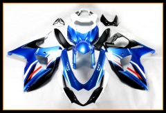 Complete ABS Injection Fairing Kit For Suzuki GSXR1000 K7 2009 - 2016 Bodywork Cowlings White Blue Body Kits