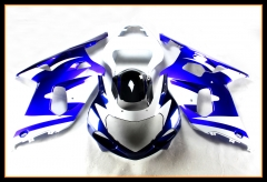 Complete Fairings For Suzuki GSXR600-750 2000 - 2003 Gloss Blue White