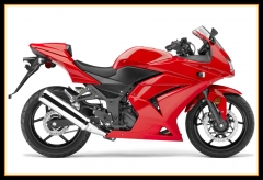 Injection Body Kit For Kawasaki Ninja250 2008 - 2012 EX250R Gloss Red