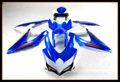 Complete Injection ABS Fairing Kit For Suzuki GSXR600-750 K8 2008 - 2010 Blue White Black Bodywork Cowlings
