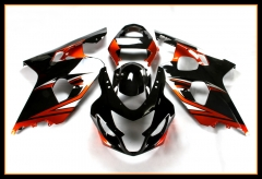 Full ABS Fairing Kit For Suzuki GSXR600-750 K4 2004 - 2005 Injection Red Black Cowling Bodywork
