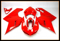 New ABS Injection Fairings For Ducati 2007 - 2012 1098 848 1198 Red