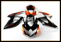 Complete Injection ABS Fairing Kit For Suzuki GSXR600-750 K8 2008 - 2010 Orange Black Bodywork Cowlings