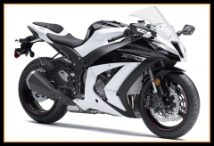 ABS Plastic Fairings Kit For Kawasaki ZX10R 2011 - 2015 White Black