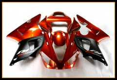 ABS Injection Full Fairings For Yamaha 2000 - 2001 YZF1000 R1 Orange Red Black