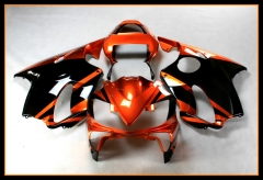 Full Injection Fairings Kit For Honda CBR600F4i 2001 - 2003 Gloss Orange Black