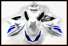 Full ABS Injection Fairing Kit For Suzuki GSXR1000 K9 2009 - 2016 Bodywork Blue White Cowlings