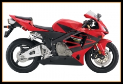 Complete Injection Fairings Kit For Honda 2005 2006 CBR600 RR F5 Red with Black Stripes