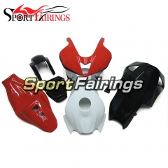 Fiberglass Racing Fairing Kit Fit For Honda CBR600RR F5 2007 - 2008 - White Red Black