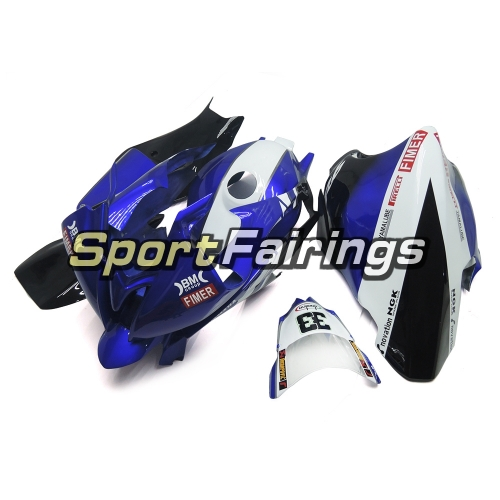 Fiberglass Racing Fairing Kit Fit For Yamaha YZF R6 2008 - 2016 - Blue Black White