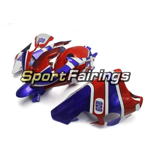 Fiberglass Racing Fairing Kit Fit For Yamaha YZF R6 2008 - 2016 - Blue Red