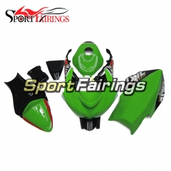 Fiberglass Racing Fairing Kit Fit For Kawasaki ZX6R 2009 - 2010 - Green Black