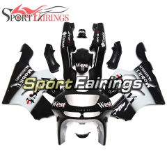 Fairing Kit Fit For Kawasaki ZX6R 1994-1997-West Black White