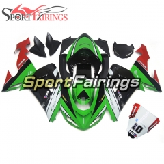 Fairing Kit Fit For Kawasaki ZX10R 2006 - 2007 -Motocard Green Black Red