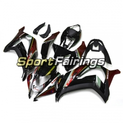 Fairing Kit Fit For Kawasaki ZX10R 2016 2017 - Black Dark Red