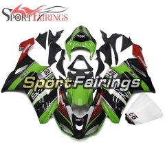 Fairing Kit Fit For Kawasaki ZX6R 2007 - 2008 - Elf Green Black Red