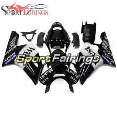 Fairing Kit Fit For Kawasaki ZX6R 2003-2004- West Black White