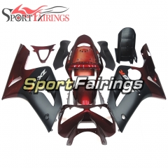 Fairing Kit Fit For Kawasaki ZX6R 2003-2004- Red Black