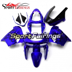 Fairing Kit Fit For Kawasaki ZX9R 1998 - 1999 - Blue Black Flame