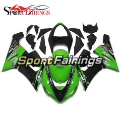 Fairing Kit Fit For Kawasaki ZX6R 2005 - 2006 - Green Black
