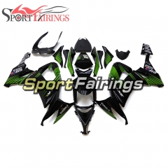 Fairing Kit Fit For Kawasaki ZX10R 2008 - 2010 -Green Stripe Black