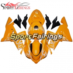 Fairing Kit Fit For Kawasaki ZX10R 2004 - 2005 -Orange White Flame