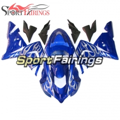 Fairing Kit Fit For Kawasaki ZX10R 2004 - 2005 -Blue White Flame
