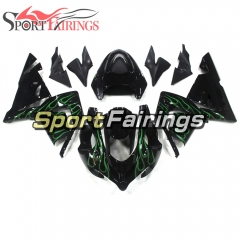 Fairing Kit Fit For Kawasaki ZX10R 2004 - 2005 -Black Green Flame