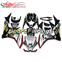Fairing Kit Fit For Aprilia RSV4 1000 2010 - 2015 - Gloss Silver Yellow Bodywork